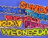 DAYS OF THE WEEK \/ENGLISH titles
