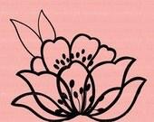 Lotus Flower CRAFT STAMP C1128