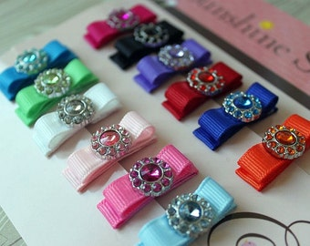 Baby Snap Clips - Bright and Pastel Bitty Button Collection