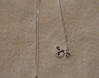 Necklace - Sterling and Amethyst Pendant