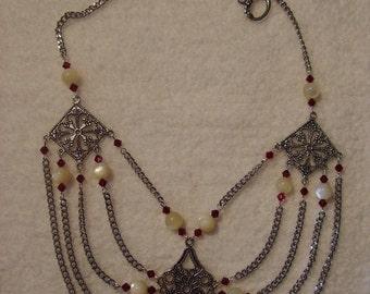 Necklace - MOP and Swarovski Crystals