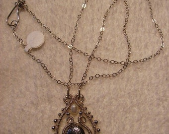 Necklace - Sterling Silver Wire Wrapped