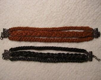 Bracelet - Leather Triple Braid