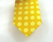 Gold and Yellow Polka Dot Mens Cotton Neckties