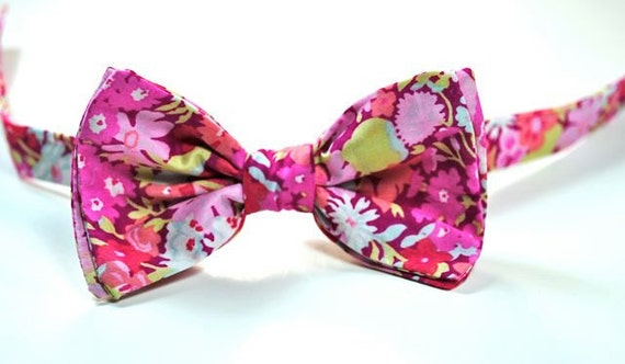 Liberty of London Pink Bow Tie