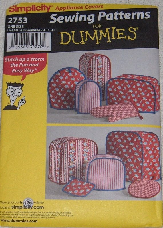 Simplicity Sewing For Dummies Appliance Covers Mitt By