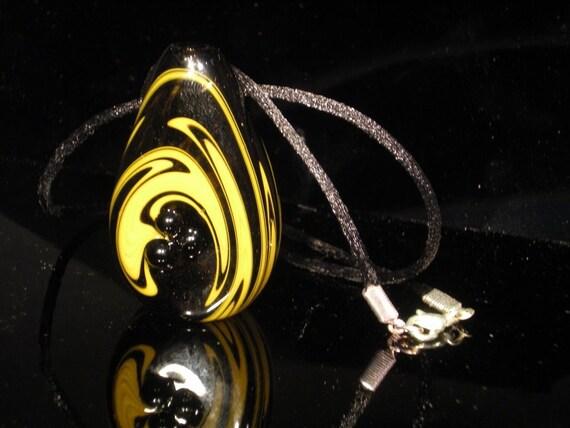 Custom Colors Swirled Smoke Stone  Necklace Pendant Piece