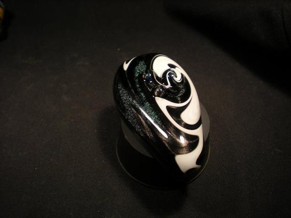 Swirled Smoke Stone Custom Colors Pocket Piece
