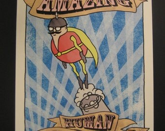 The Amazing Human Cannonball print