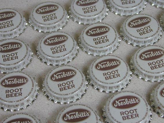 20 Vintage Unused Nesbits Root Beer Soda Bottle Caps