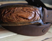 Winding River - Wooden Belt Buckle