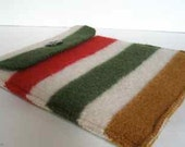 iPad Case Red/Green/Tan Felted Wool