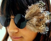 Avian Vision Feather Embellished Sunglasses