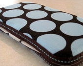 Boutique Baby Wipes Case in Blue Circles