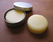 Cocoa & Shea Butter LOTION BAR Infused with Calendula and Chamomile, Travel Size in Metal Tin