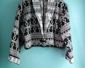 Aztec Cotton Cropped Blazer SALE