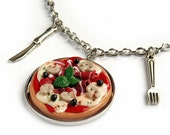Fimo Pizza and Place Setting Necklace