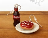 Fast Food Day - Special edition - Donut & Cola Miniatures Earrings