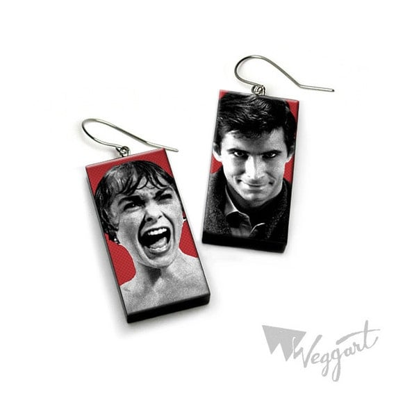 She might have fooled me, but she didn't fool my mother - Psycho earrings