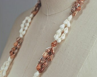 Vintage Strand of White Nassa and Miser Dove Shells
