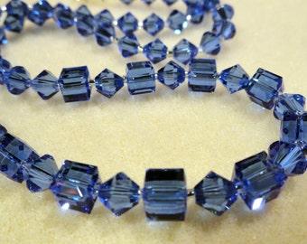 Spectacular Sapphire Swarovski Crystal Necklace