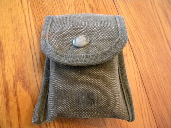Genuine Government Issue Field Dressing Compass Case