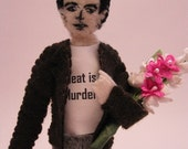 Morrissey Finger Puppet and Mic Stand