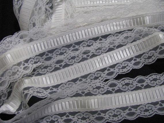 5 Yards Vintage Lace Trim White