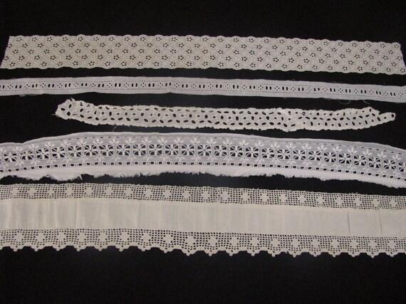 Vintage Antique Cotton Lace Trims