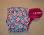Organic Bamboo Fitted Diaper - Daisies