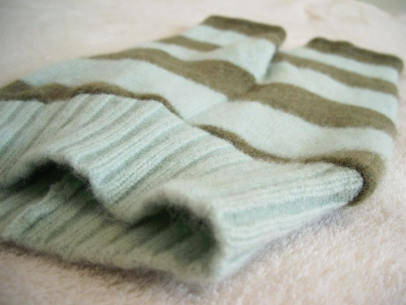 Repurposed Wool Longies Pants Diaper Cover - Small