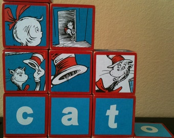 Cat in the Hat Dr Seuss Building Blocks