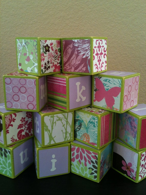 Pink and Green Building Blocks