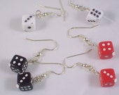 Dice Earrings Set- white, black, and red- You get 3 Pairs of Earrings E-F2011-0001