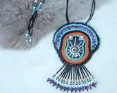 Sale!!!  was 55.00 now 35.00 Handmade Beaded Embroidery Necklace