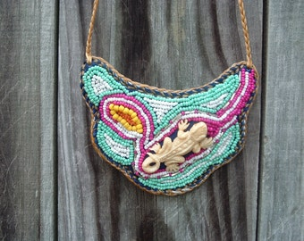 SALE!!!  was 75.00 now 55.00 Handmade Beaded Embroidery Necklace