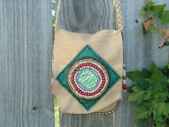 Medicine Bag Possibles Bag Beaded Embrroidery ((((SALE))))