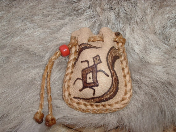 Small Pocket Pouch size Medicine Bag with a Turtle design on the front
