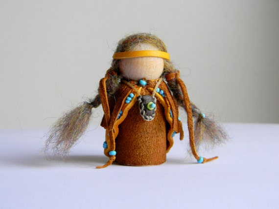 Waldorf Inspired Little Native American Girl Gnome