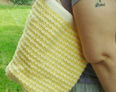 Crochet Tote Bag With Lining