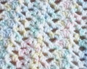 Pastel Multi Color Crochet Baby Blanket