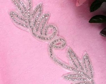 XR91 Swan Beaded Crystal Rhinestone Trim