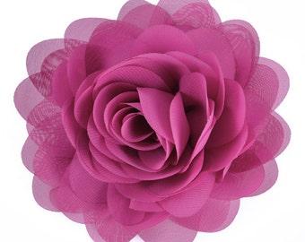 """E6042 Bright Purple Floral Brooch Clip Applique 5"""" E6042-bpr"""
