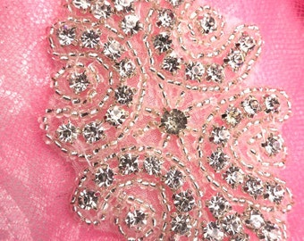 ACT/XR131 Baby Cinderella Genuine Rhinestone Beaded Applique    (ACT/XR131-SLCR)