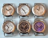 Small Round Watch Face - Narmi, Interchangeable, Ribbon, Solid bar,