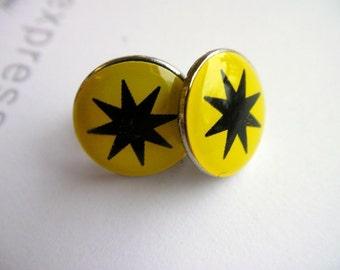 Star Yellow Stud / Post Earrings ... SALE ... CLEARANCE ....