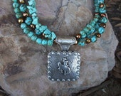 Back In The Saddle Western Bronc Necklace  Sale