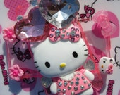 Hello Kitty Heart Bling iPhone 4, 4s Case Made with Swarovski Crystals