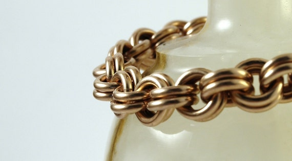 Bronze 2 in 2 Chainmaille Bracelet Extra Large