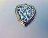 Vintage Silver Heart Pendant, Signed Sterling Silver Mother Heart  Pendant Vintage Jewelry Jewellery